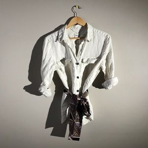 Zara Button Down Linen Shirt